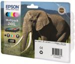Epson 24 Multipack - 6-pack - svart, gul, cyan, magenta, lys magenta, lys cyan - original - blekkpatron (alternativ for: Epson 24XL) (C13T24284011)