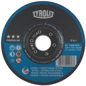 Slipeskive Tyrolit Ø125x7 mm