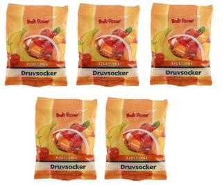 Fruit Power Druesukker Tabletter - Frugt Mix - 30*5 Tabl - 5 Pakk