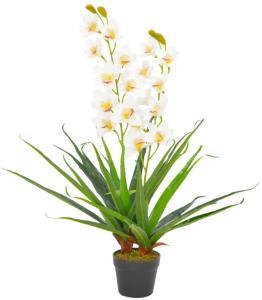 vidaXL Kunstig orkidè med potte hvit 90 cm