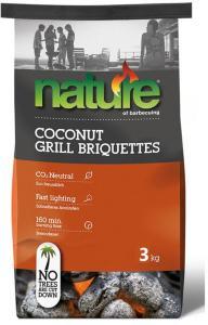 Grillbriketter Nature Basic Kokos 3 Kg