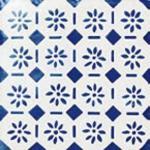 Flis Höganäs Pombalino Rossio Blank Blå/Hvit 15x15