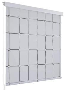 Ariadna Rullegardin til Dusj 120x240 cm Firekant - Hvit/Grå