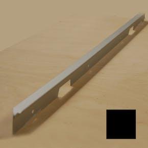 Dekklist Fibo Sort Aluminium til Benkeplate