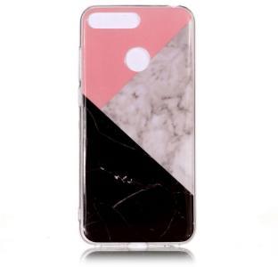 TPU Deksel for Huawei Y6 (2018) - Rosa/Svart Marmor