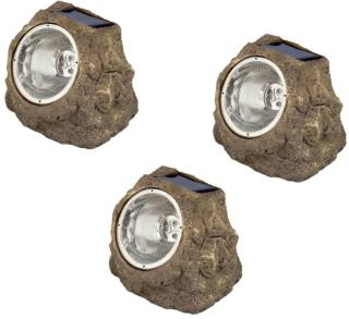 Luxform Soldrevet LED-stenlys for hage Andes 3 stk