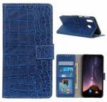 Krokodille Series Samsung Galaxy M20 Lommebok-deksel - Blå