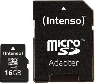 INTENSO Memory card SD-Micro 16GB Intenso C10 (3413470)