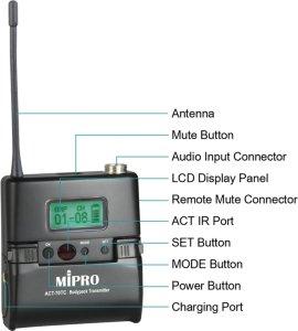 MIPRO ACT-70TC ladbar lommesender (NL560018)