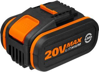 Worx WA3553 20V 4.0Ah batteri med indikator