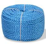 vidaXL Vridd tau polypropylen 6 mm 500 m blå