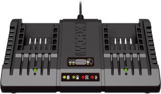Worx WA3869 20V dobbelt batterilader
