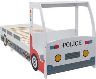 vidaXL Politibil barneseng med skrivebord 90x200 cm