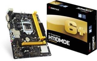 BIOSTAR H110MDE Hovedkort - Intel H110 Express - Intel LGA1151 socket - DDR4 RAM - Micro-ATX H110MDE