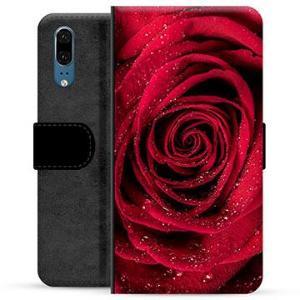 Huawei P20 Premium Lommebok-deksel - Rose
