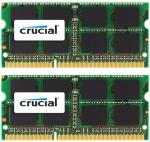 CRUCIAL DDR3 - 8 GB: 2 x 4 GB - SO DIMM 204-pin - 1333 MHz / PC3-10600 - CL9 - 1.35 / 1.5 V - ikke-bufret - ikke-ECC - for Apple iMac; Mac mini (I midten av 2011); MacBook Pro (CT2K4G3S1339M)