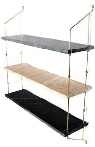 OX DENMARQ Morse shelve hylle - Green/sand/black/brass