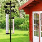 0 Værstasjon med termometer for hagebruk