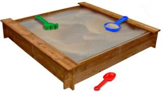 vidaXL Sandkasse firkantet treverk