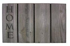 Dørmatte InHouse Home Wood Grå 46x75 cm