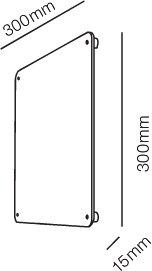 Rørhat Navneplate XL 30X30cm Kobber - LIGHT-POINT