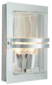 Norlys Basel Vegglampe Galvanisert, Klart glass