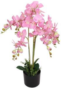 vidaXL Kunstig orkidè med potte 75 cm rosa