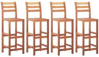 Barstoler 4 stk heltre akasie -