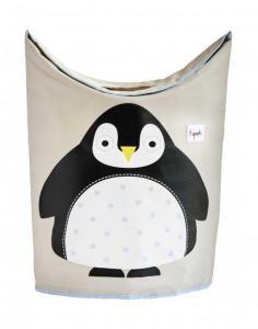 3 Sprouts Skittentøyskurv Pingvin
