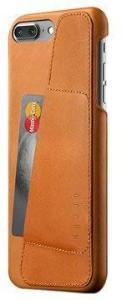 iPhone 7 Plus / iPhone 8 Plus Mujjo Wallet Lærdeksel - Lærbrunt