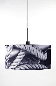 Globen Lighting Pendel Rope Grå