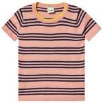 FUB Blush and Navy Striped T-Shirt 130 cm (7-8 år)