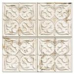 Flis Hill Ceramic Antigua Hvit Mønstret 33x33 cm