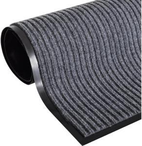 Dørmatte grå 160x220 cm PVC -