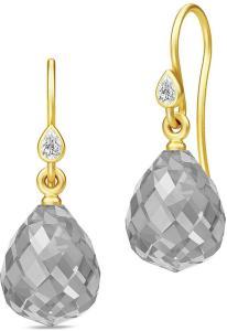Julie Sandlau Droplet Earrings - Gold/Grey Øredobber Smykker Sølv Julie Sandlau Women