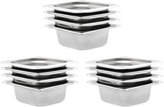 vidaXL Gastronormbeholdere 12 stk GN 1/6 65 mm rustfritt stål