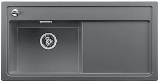 Blanco Zenar XL 6 S-H, Silgranit 1000x510 mm, kum venstre, Alu metall
