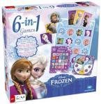 Tactic Disney Frozen 6-in-1 Games - Nordisk Utgave Tactic