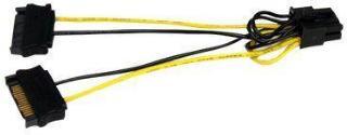 StarTech SATA Power to 8 Pin PCI Express Video Card Power Cable Adapter - Strømkabel - SATA-strøm (hann) til 8-pins PCIe-strøm (hann) - 15 cm (SATPCIEX8ADP)