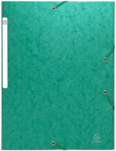 Exacompta Strikkmappe A4 3 kl 600g grønn 55953E (Kan sendes i brev)