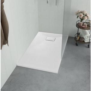 Dusjbrett SMC hvit 90x70 cm - Hvit