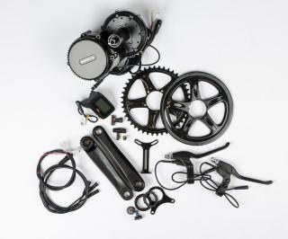Bafang G340 El-Sykkel kit Krankmotor m/deler og Bagasjebatteri