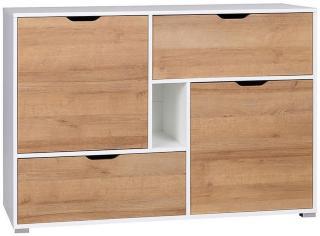 Iwa Kommode 40x132 cm - Hvit/Eik