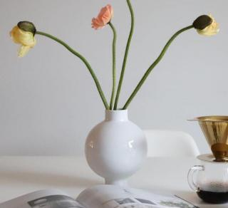 COOEE Collar Vase 14cm, Hvit (389-collar-white-14cm)