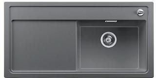 Blanco Zenar XL 6 S-H, Silgranit 1000x510 mm, kum høyre, Alu metall