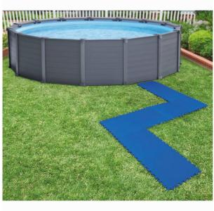 Intex Beskyttelse for bassenggulv 8 stk 50x50 cm blå - Blå