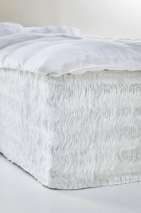 FRILLY sengekappe 60 cm Hvit