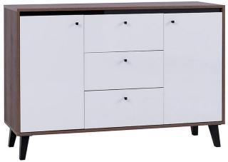 Oviedo Kommode 40x135 cm - Eik/Hvit/Svart