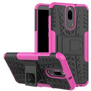 Huawei Mate 10 Lite Anti-Slip Hybrid-deksel - Rosa / Svart
