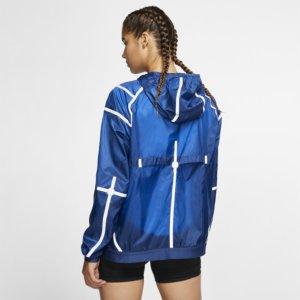 Nike City Ready løpejakke med hette til dame - Blue S